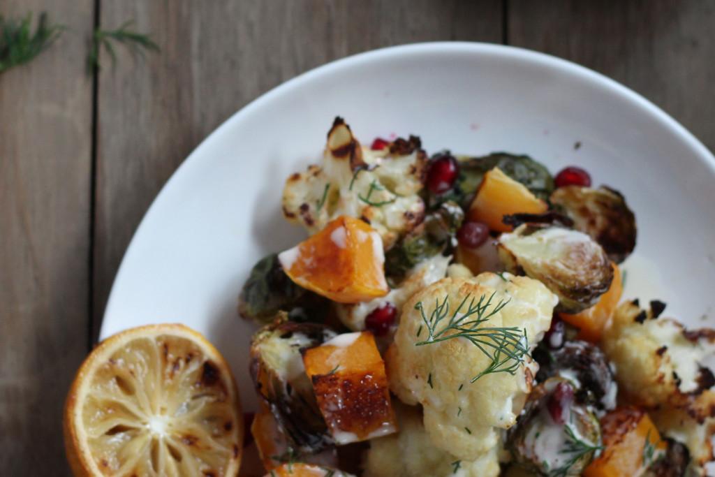 Roasted Vegetable Salad with Pomegranate