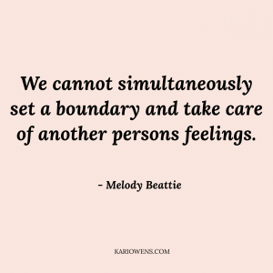 Meloday Beattie quote on boundaries
