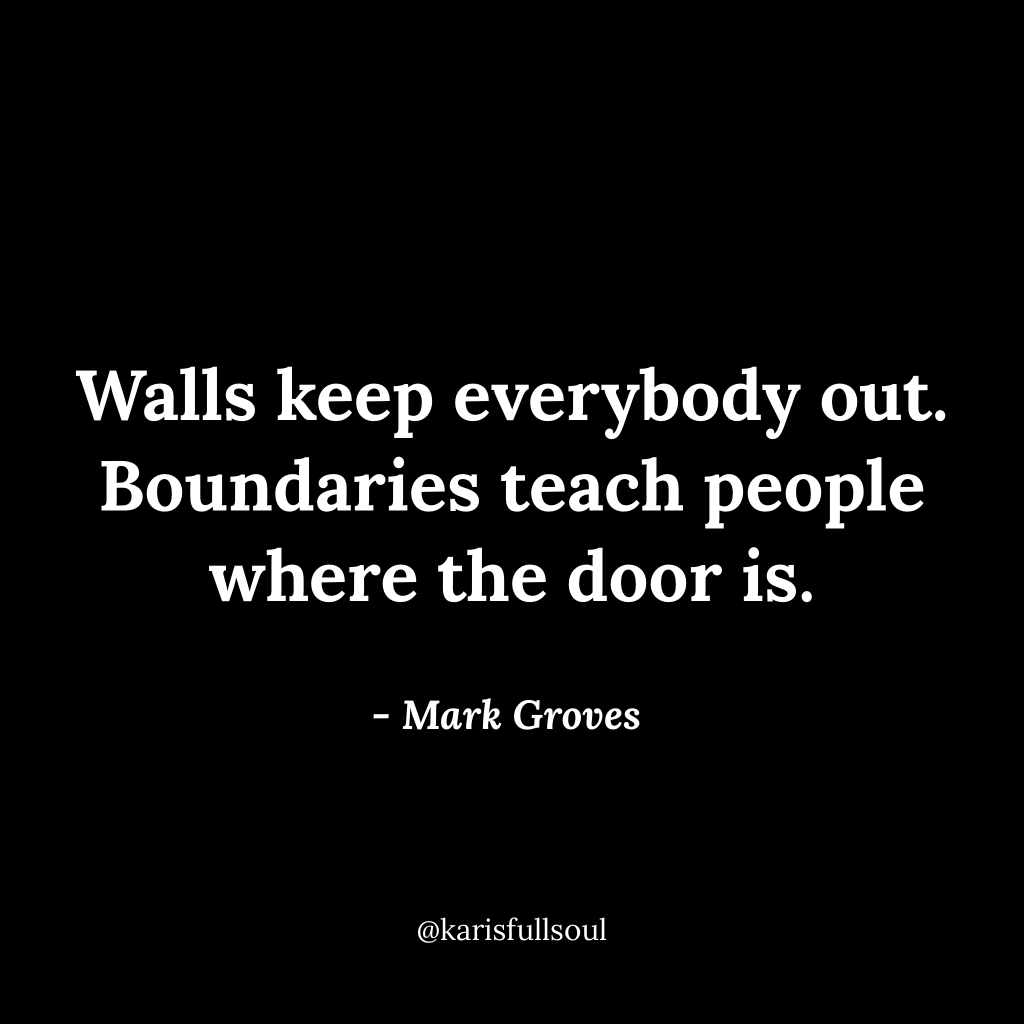 Boundary quote, Marc Groves